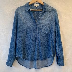 Anthropology Cloth & Stone Chambray denim shirt